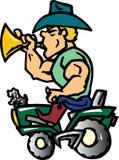 трактор ковбоя Иллюстрация штока