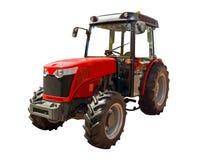 трактор красного цвета фермы Стоковые Фото