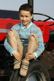 трактор мальчика Стоковое Изображение RF