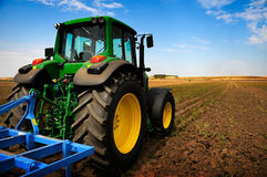 трактор оборудования земледелия самомоднейший Стоковое Изображение