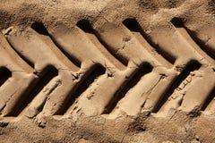 трактор песка следа ноги пляжа промышленный Стоковые Изображения RF