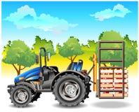 трактор поля иллюстрация штока