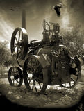 трактор потока Стоковая Фотография