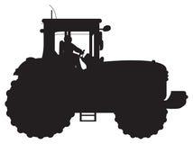 трактор силуэта иллюстрация вектора