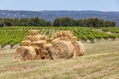 Трактор сделанный с связками сена Стоковая Фотография