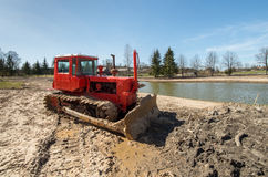 Трактор Crawler Стоковое Изображение RF