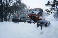 Трактор Mt Baw Baw Виктория Австралия расчистки снега Стоковые Фото