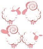 трамбует овец стилизованных Стоковые Фотографии RF