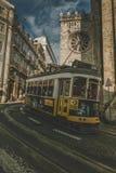 Трамваи вверх lisbon Португалия Стоковые Изображения