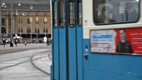 Трамваи города Гётеборга сток-видео