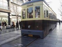 Трамваи на улице Qianmen, Пекине стоковые изображения rf