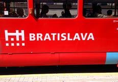 Трамвайная линия Братиславы Стоковое Изображение RF