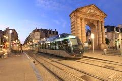 Трамвайная линия в Бордо Стоковая Фотография