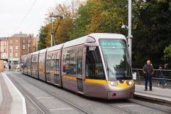 Трамвайная линия LUAS в Дублине, Ирландии стоковое фото rf