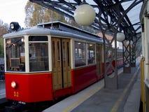 Трамвайная линия Superga в Турине Италии Стоковые Изображения