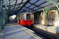 Трамвайная линия Superga в Турине Италии Стоковое Изображение RF