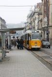 Трамвайная остановка на станции в Будапеште Стоковая Фотография
