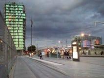 Трамвайная остановка Стоковые Изображения