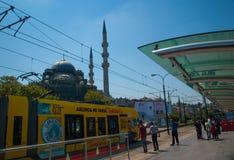 Трамвайная остановка Eminonu Стоковые Фото