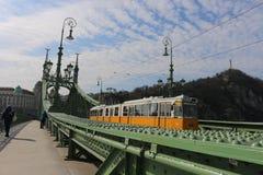 Трамвай Будапешта Стоковые Изображения
