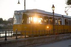 Трамвай Будапешта стоковая фотография