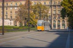 Трамвай в Будапеште, Венгрии стоковое фото