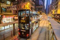Трамвай в Гонконге Стоковые Изображения