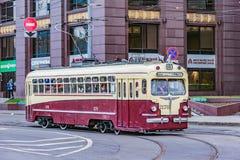 Трамвай года сбора винограда пассажира Стоковое Фото