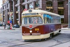 Трамвай года сбора винограда пассажира Стоковые Фото