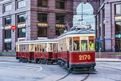 Трамвай года сбора винограда пассажира Стоковое фото RF