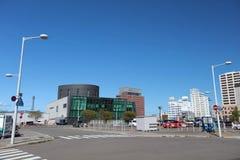 Трамвай города Hakodate в Hakodate, Хоккаидо, Японии Стоковые Изображения