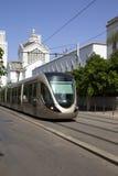 Трамвай и церковь Стоковые Изображения RF