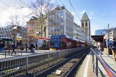 Трамвай Кёльна, Германии, Кёльна срочный Стоковое Изображение