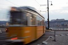 Трамвай на движении Стоковое фото RF