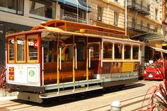 Трамвай на Сан-Франциско Стоковое фото RF