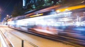 Трамвай отстает долгую выдержку, индюка, Стамбул Стоковая Фотография