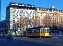 Трамвай от милана стоковое фото