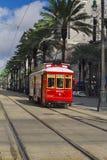 Трамвай улицы канала Нового Орлеана Стоковое Изображение