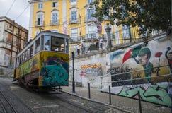 Трамвай Calcada da Глории Стоковое фото RF