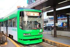 Трамва-поезд в Хиросиме, Японии Стоковое Изображение RF