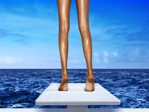 трамплин ног Стоковая Фотография RF