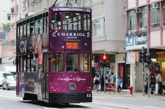 Трам двухэтажного автобуса в Hong Kong. Стоковое Изображение