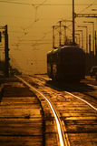 трам захода солнца Стоковое Фото