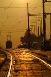 трам захода солнца Стоковые Фотографии RF