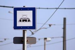 трам знака Стоковое фото RF