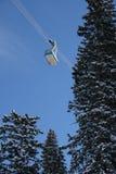 трам лыжи 2 курортов Стоковое Изображение