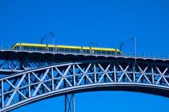 трам моста самомоднейший стальной Стоковое Фото