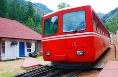 трам поезда горы железнодорожный Стоковые Фото