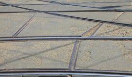 трам рельсов Стоковые Фото