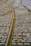 трам рельсов Стоковые Изображения RF
